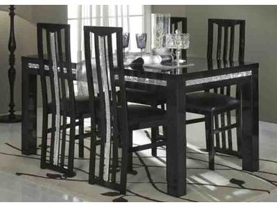 Table de repas Cromo  laque noir