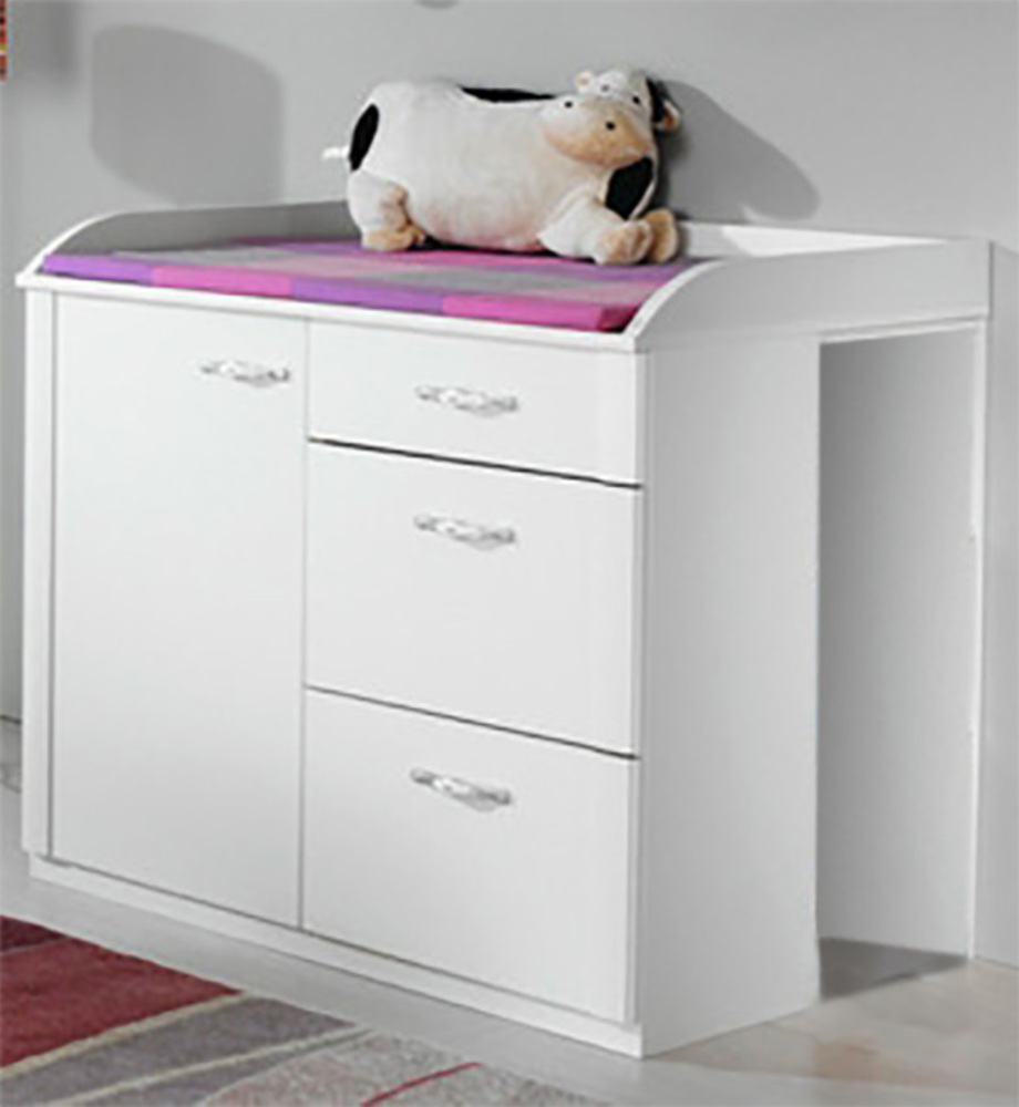 commode a langer lilly blanc neige. Black Bedroom Furniture Sets. Home Design Ideas