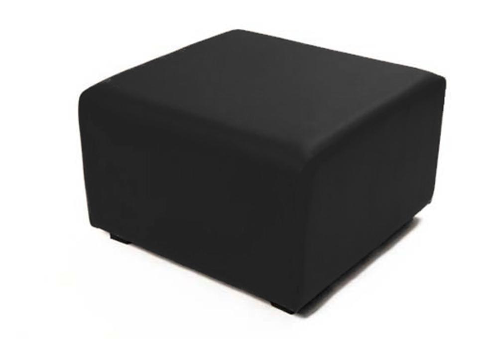 Pouf Carre Lingo Oby 01 Noir