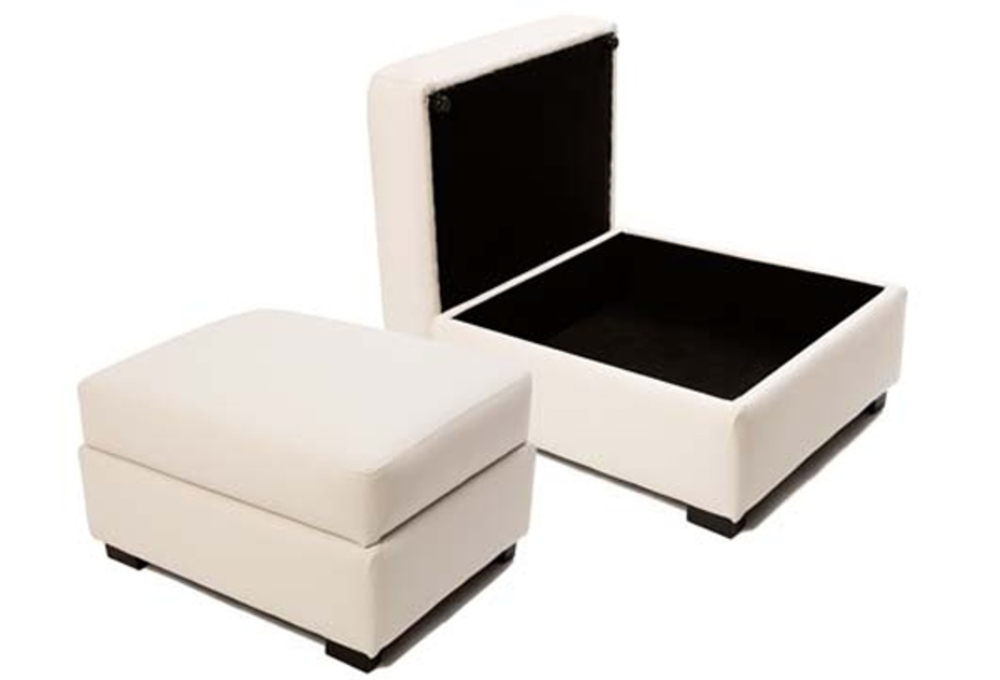pouf coffre leo dalma blanc. Black Bedroom Furniture Sets. Home Design Ideas