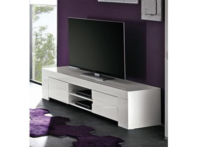 Meuble tv Livorno laque blanc