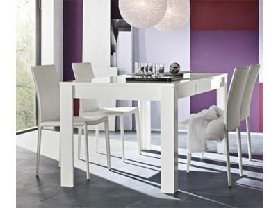 Table de repas Messina laque blanc