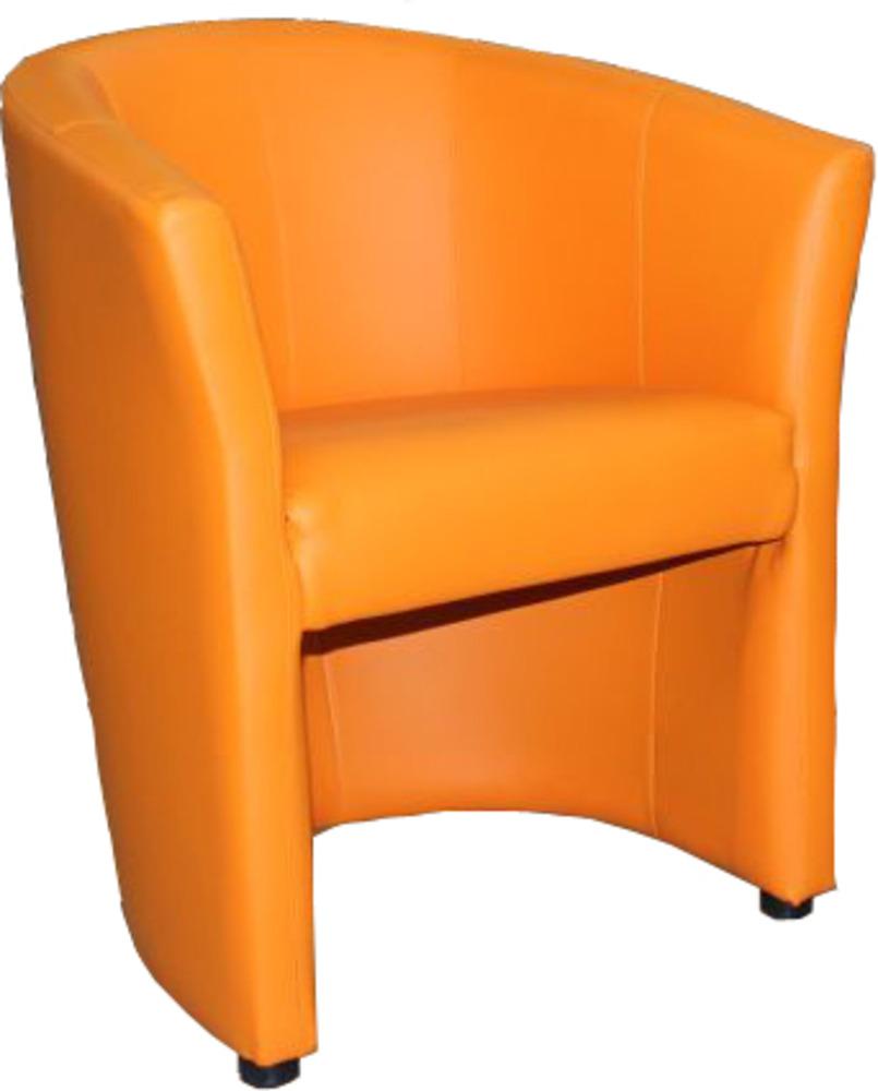 Fauteuil Kuba Orange L X H X P - Fauteuil orange