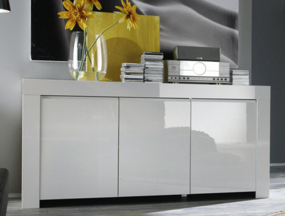 bahut 3 portes amalfi turini blanc. Black Bedroom Furniture Sets. Home Design Ideas