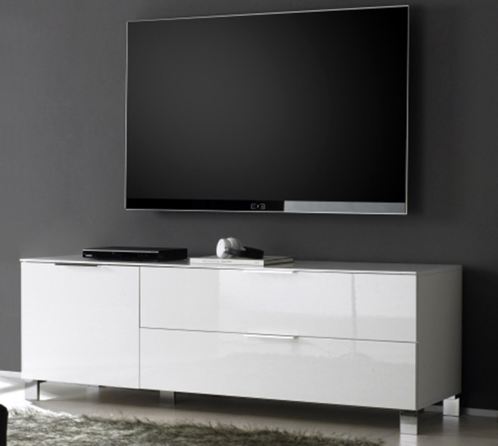 meuble tv petit modele sola blanc. Black Bedroom Furniture Sets. Home Design Ideas