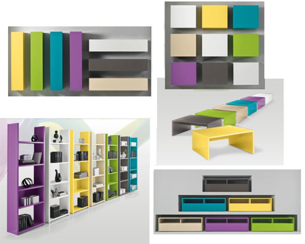 Cube 1 porte mural Box Anthracite -> Porte Television Mural