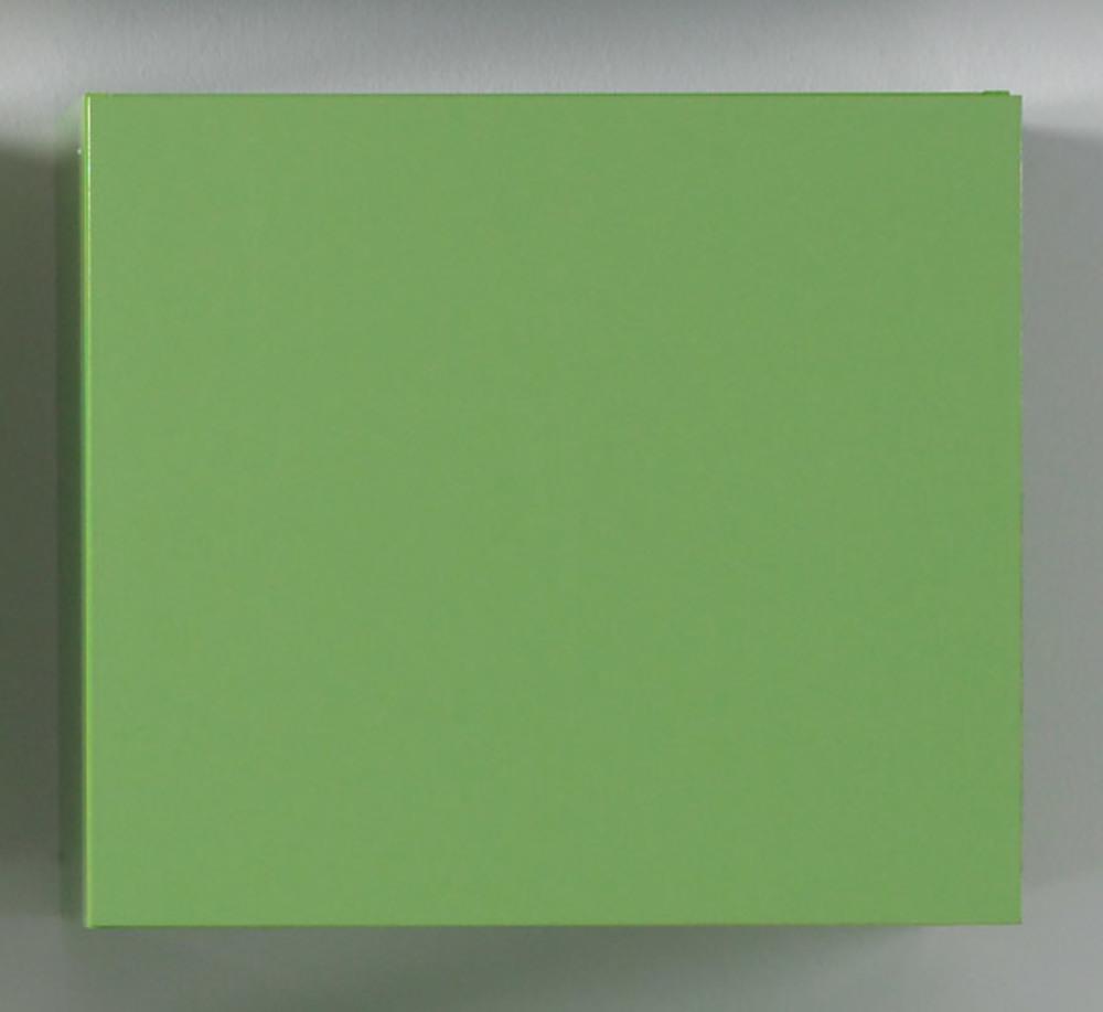 Cube 1 porte mural box vert l 57 x h 51 x p 31 for Meuble mural 1 porte