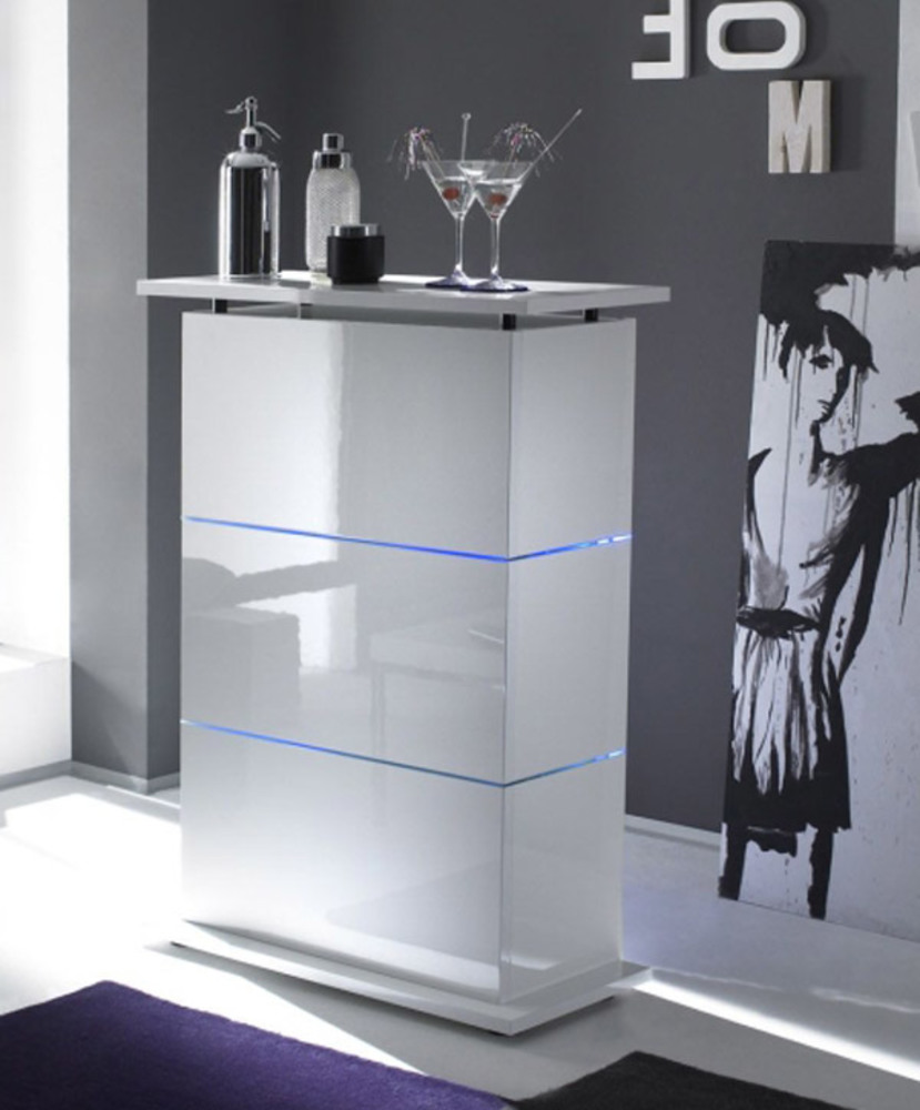 Bar Primo Blanc # Armoire Bar Blanc Laque Led