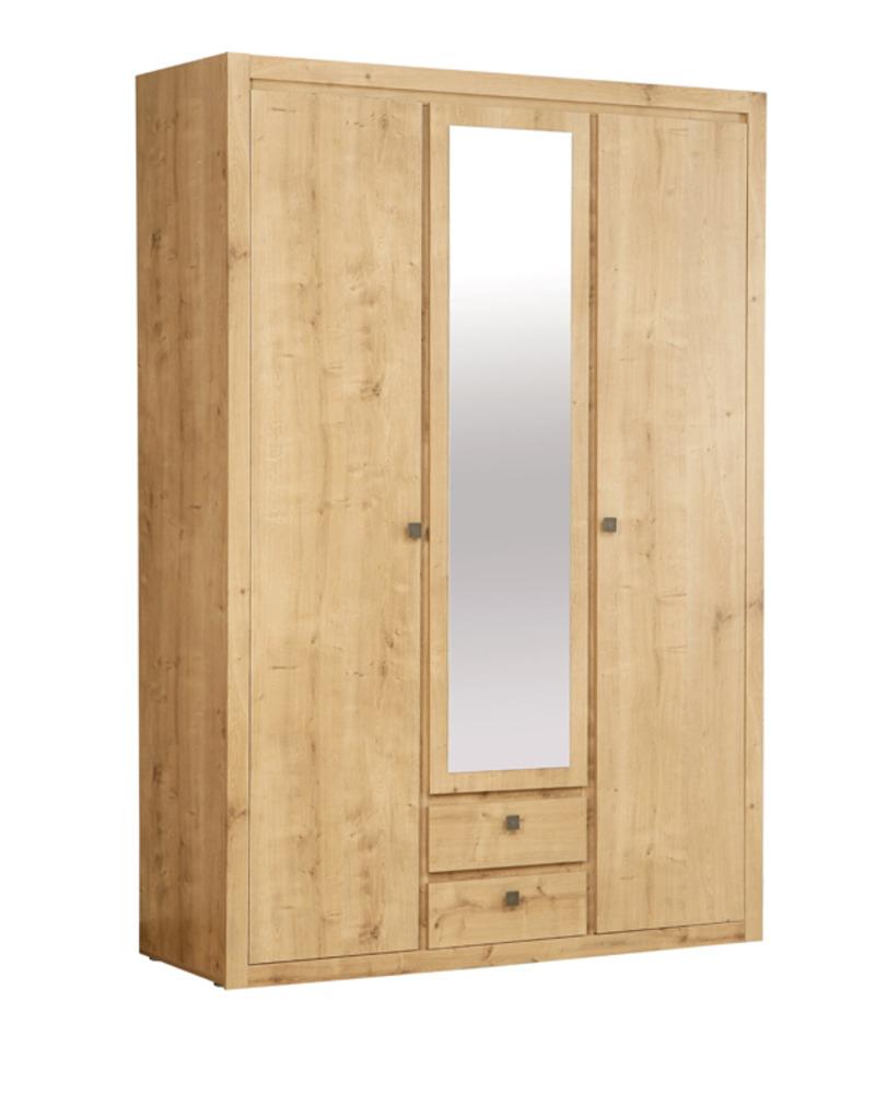 Armoire 3 portes 2 tiroirs indigo chambre a coucher for Armoire chambre coucher