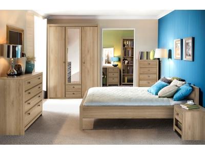 Armoire 4 portes 2 tiroirs Indigo chambre a coucher