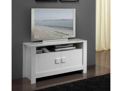 Meuble tv Pisa laquée blanc