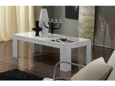 Table basse Pisa laquee blanc
