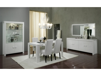 Table de repas Pisa laquee blanc