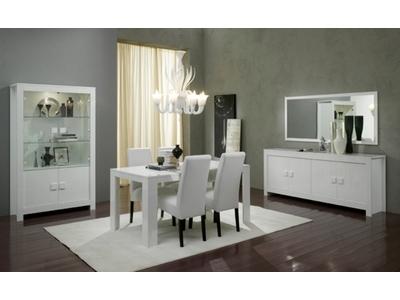 Table de repas Pisa laquée blanc