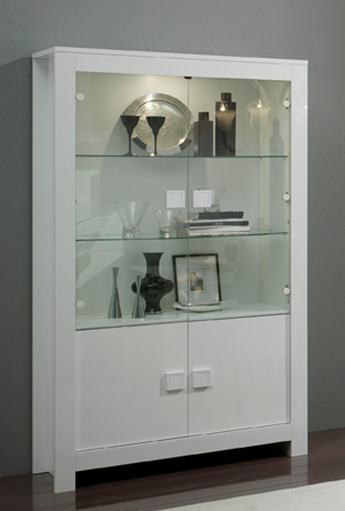 vitrine pisa laqu e blanc. Black Bedroom Furniture Sets. Home Design Ideas