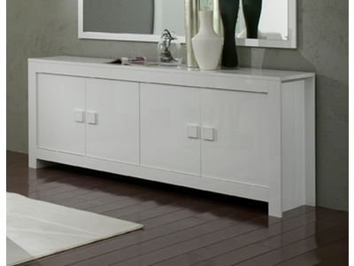 bahut 4 portes amalfi turini blanc. Black Bedroom Furniture Sets. Home Design Ideas