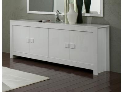 Bahut 4 portes amalfi turini blanc for Bahut salon