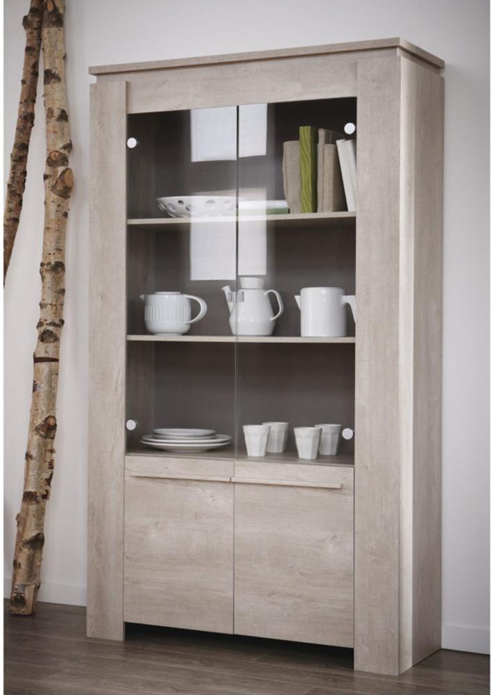 vitrine 2 portes segur chene champagne. Black Bedroom Furniture Sets. Home Design Ideas