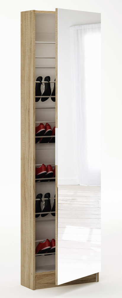armoire chaussures zapatero chene brosse blanc. Black Bedroom Furniture Sets. Home Design Ideas
