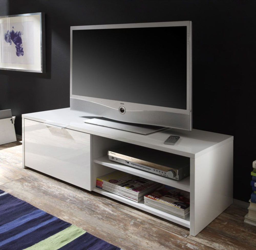 Meuble tv grand ecran maison design for Meuble tv pour grand ecran plat