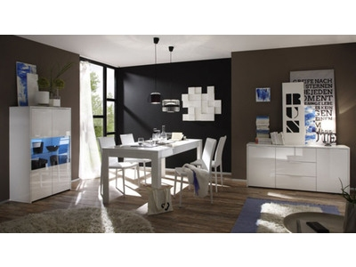 meuble tv sorrento blanc. Black Bedroom Furniture Sets. Home Design Ideas