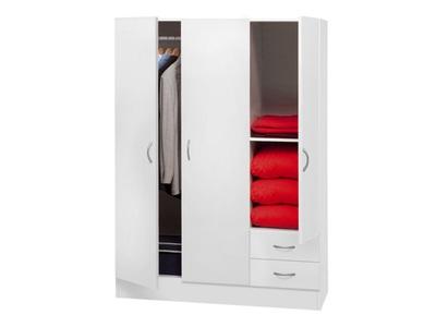 Armoire 3 portes 2 tiroirs Beasy