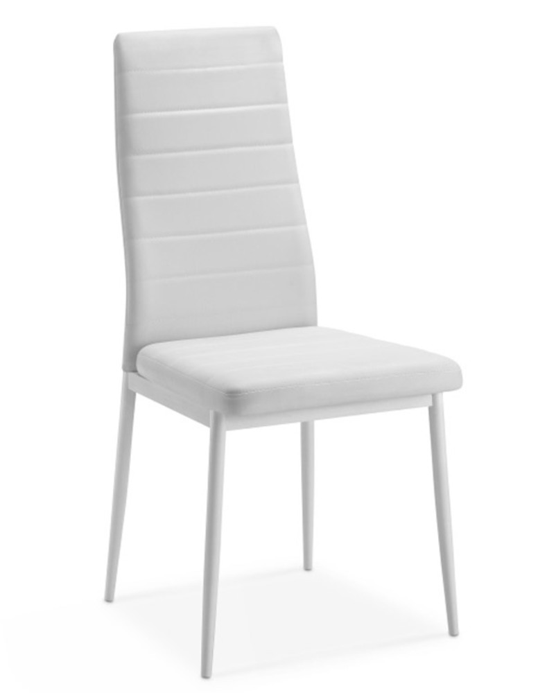 Chaise sejour flandres blanc for Chaise salle a manger jago