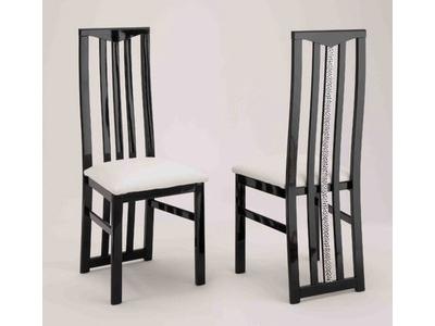 Chaise de sejour Cromo laque bicolore