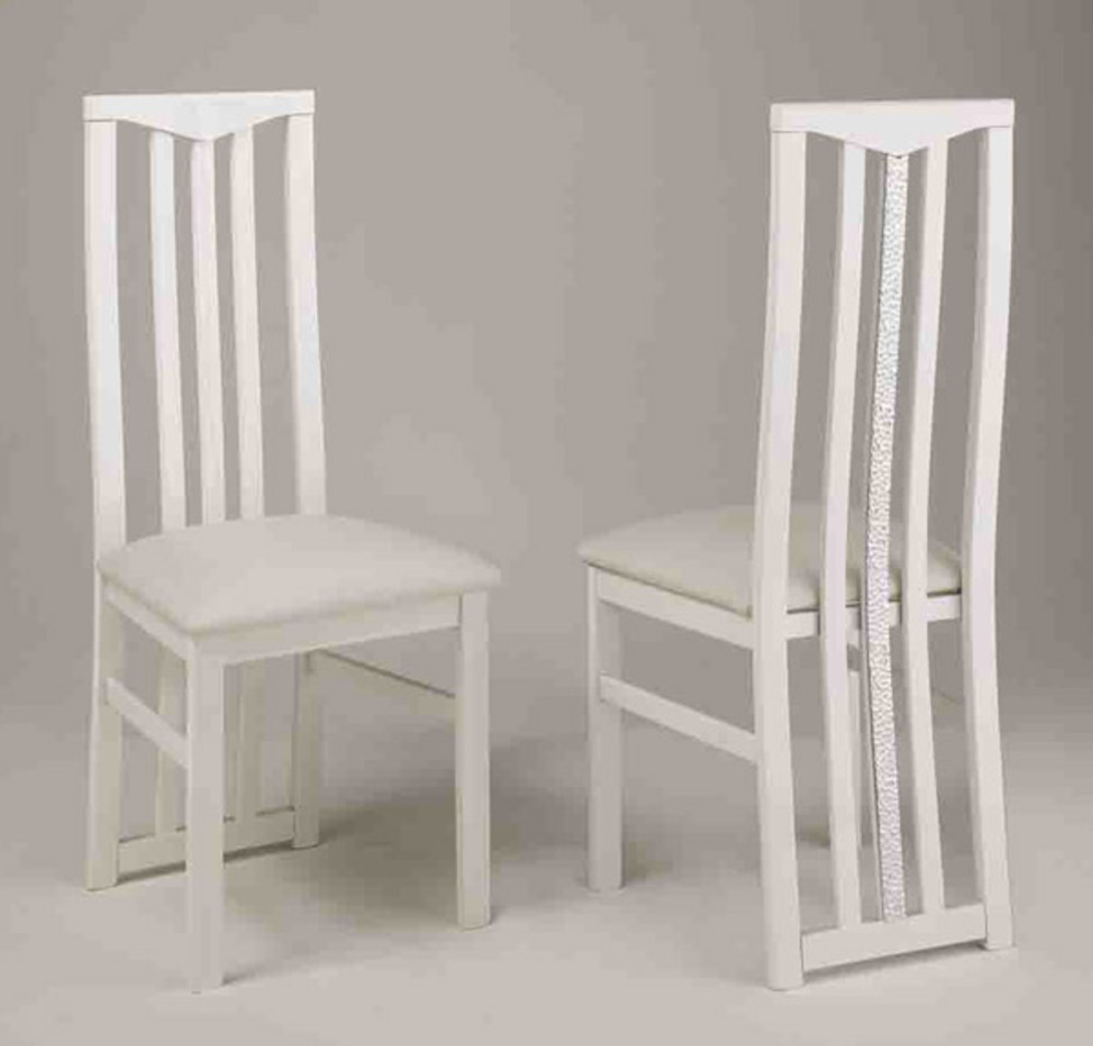 chaise de sejour cromo laque blanc. Black Bedroom Furniture Sets. Home Design Ideas