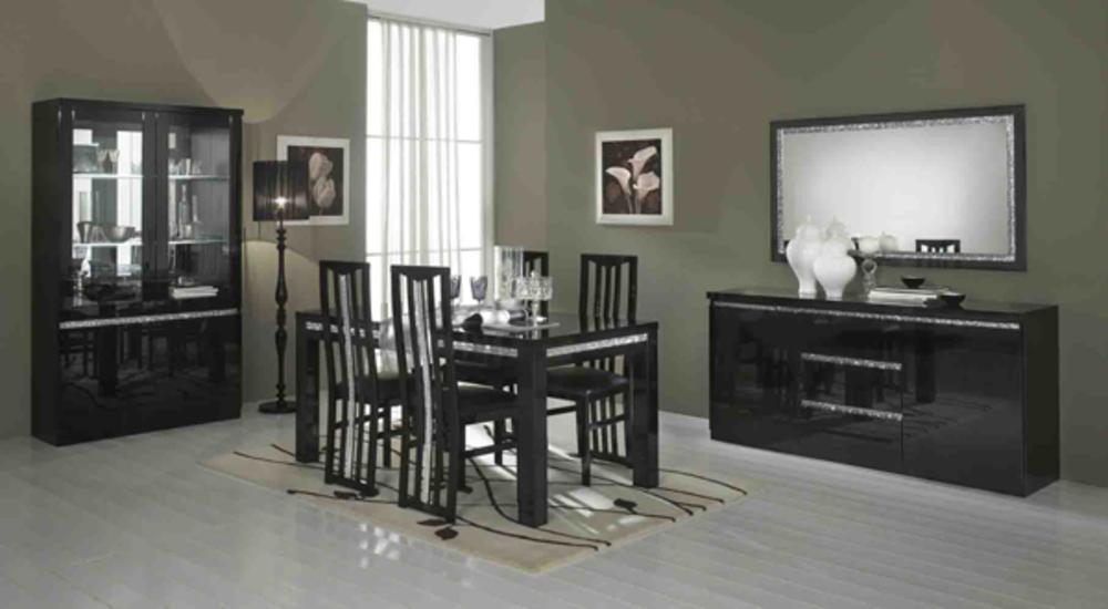 Chaise de sejour cromo laque noir for Chaise sejour noir