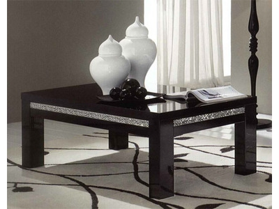 Table basse Cromo  laque noir