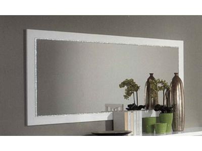 Miroir chic laque blanc for Grand miroir blanc laque