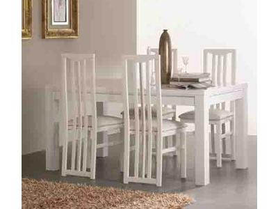 Table de repas Chic laque blanc