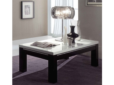 Table basse Chic laque bicolore