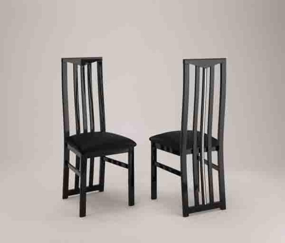 Chaise de sejour chic laque noir for Meuble de salle a manger noir laque