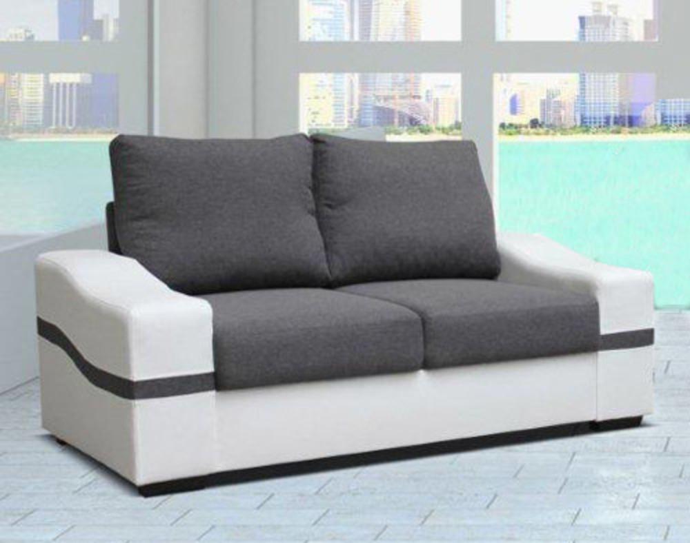 canape 2 places oregon blanc gris. Black Bedroom Furniture Sets. Home Design Ideas