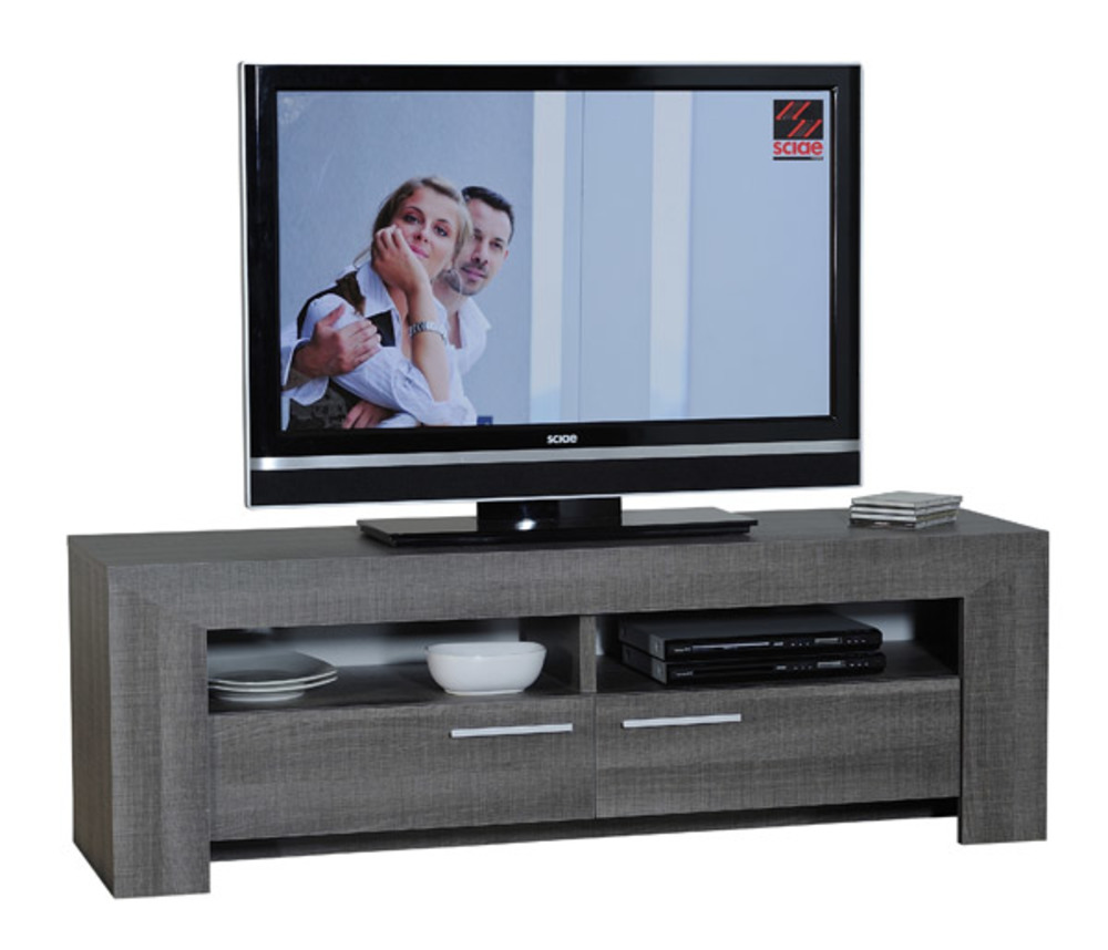 meuble tv lathi 56 chene gris fonce. Black Bedroom Furniture Sets. Home Design Ideas