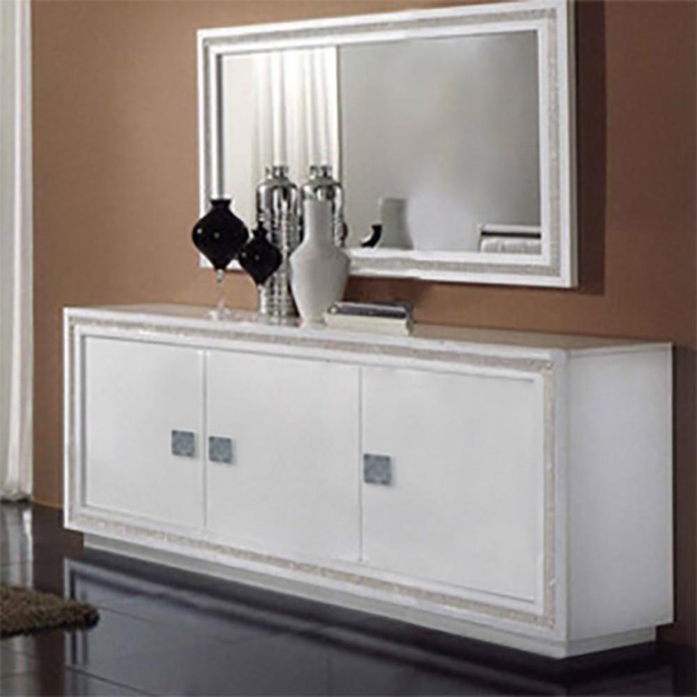 bahut 3 portes prestige 302 laque blanc. Black Bedroom Furniture Sets. Home Design Ideas
