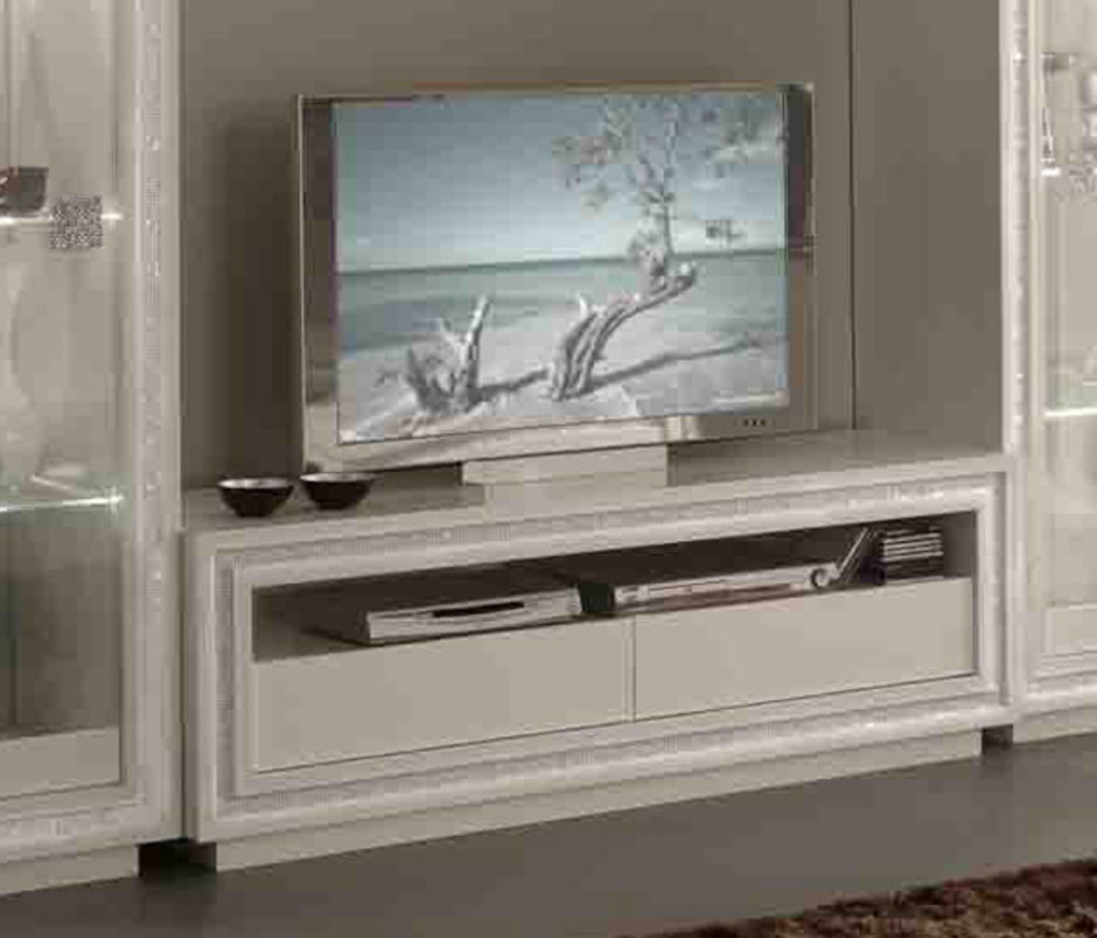 Meuble tv prestige 302 laque blanc for Basika meuble tv