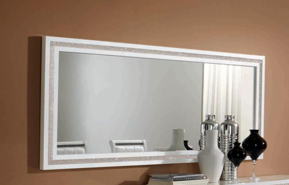 Miroir prestige 302 laque blanc l 143 x h 85 - Grand miroir blanc laque ...