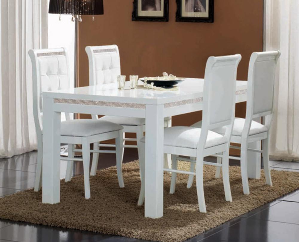 Table de repas prestige 302 laque blancl 160 x h 76 x p 90 - Table blanc laque ikea ...