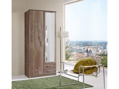 Armoire 2 portes dont 1 miroir+2 tiroirs