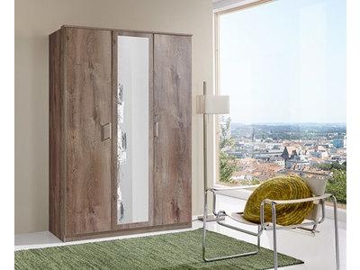 Armoire 3 portes dont 1 miroir Oskar