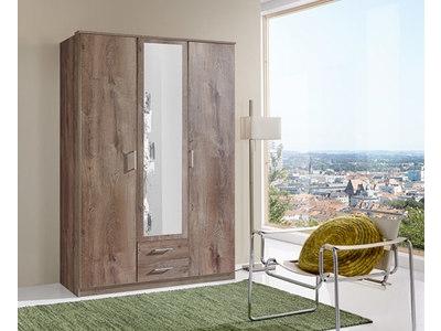 Armoire 3 portes dont 1 miroir+2 tiroirs