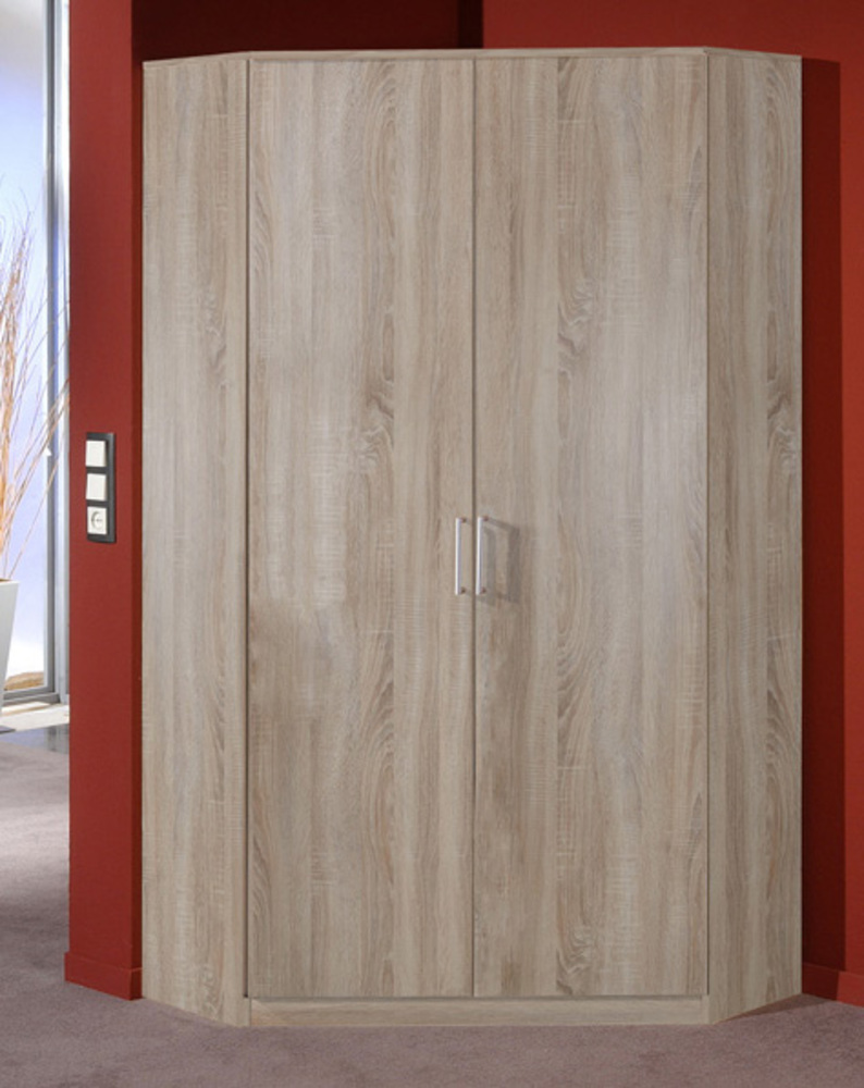 Armoire d 39 angle 2 portes omega chene fonce - Meuble d angle chambre ...