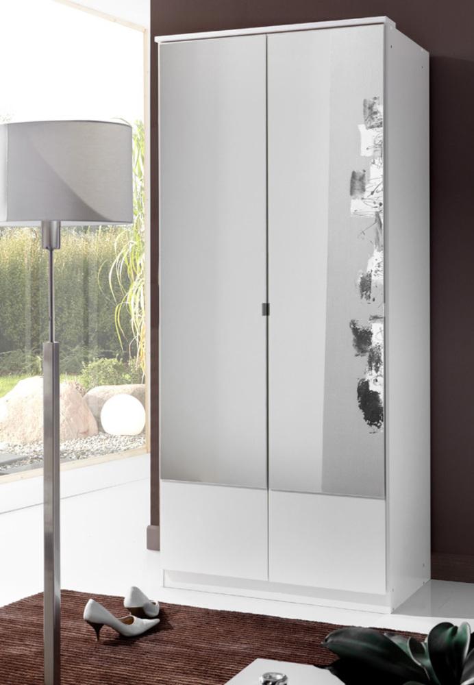 armoire 2 portes imago blanc. Black Bedroom Furniture Sets. Home Design Ideas