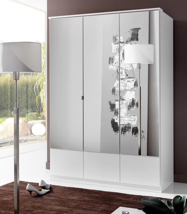 armoire 3 portes imago blanc. Black Bedroom Furniture Sets. Home Design Ideas
