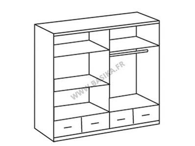 Armoire 4 portes  4 tiroirs Imago