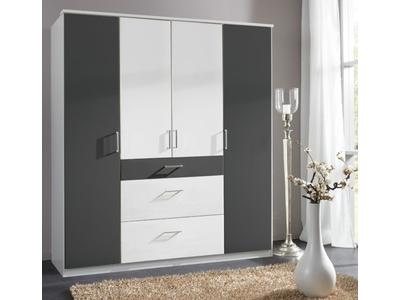 Armoire 4 portes 3 tiroirs Click