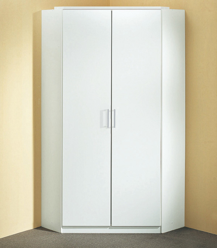 Armoire d 39 angle click blanc for Meuble angle chambre